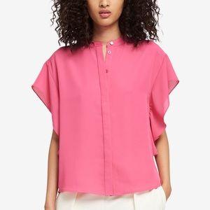 NWT DKNY Botanical Gardens Mandarin Collar Shirt